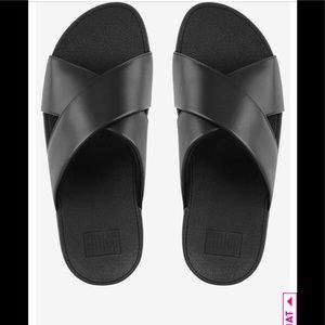 Fit flop leather lulus cross slide sandals